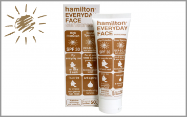 Hamilton EVERYDAY FACE  SPF 30<b> <BR> </b>tinted sunscreen - light cream, 50gr